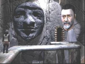 A screengrab from the Knightmare TV show