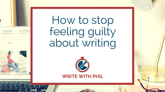 How to stop feeling guilty about writing header immage