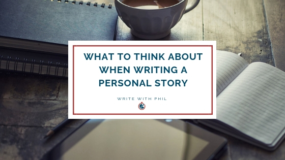 Writing a personal story header image