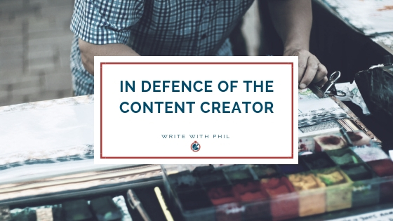 In defence of the content creator