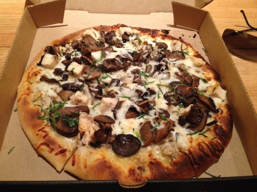 Wild Mushroom and Chicken Pizza