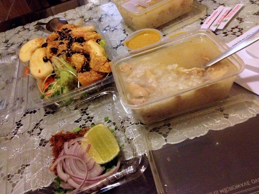Chicken and Rice Soup, Sesame Mango-Chicken Salad