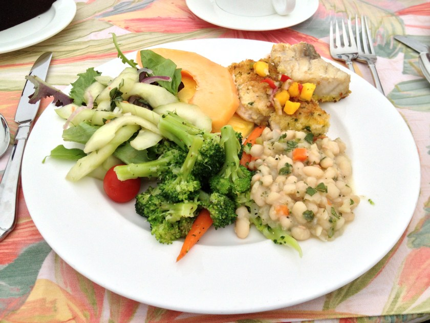 Lunch: Vegetables, White Beans, Fish