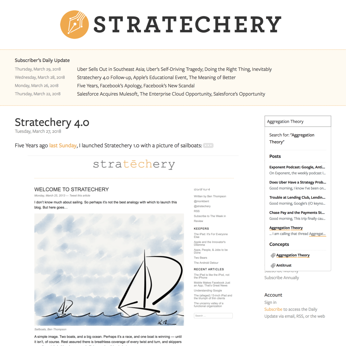 Stratechery 4.0: Not Just Another WordPress Site