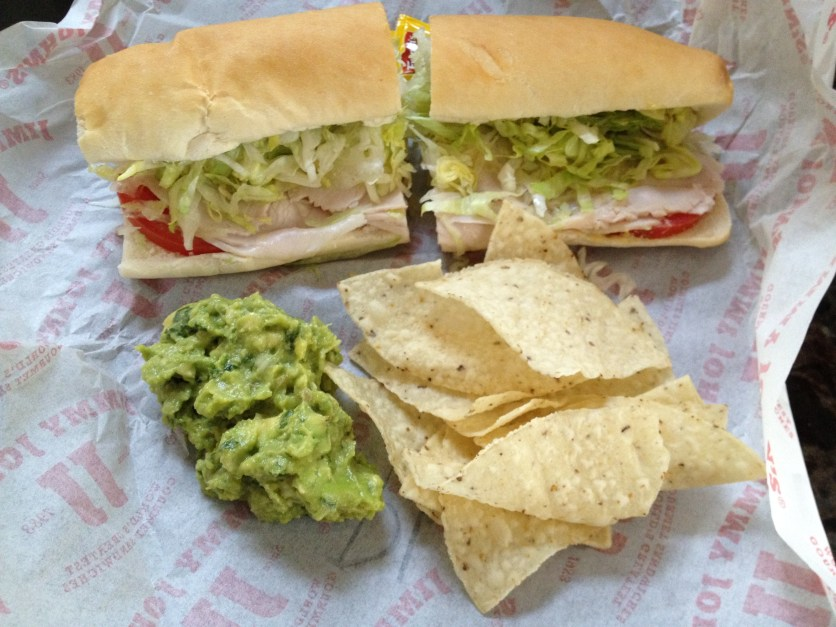 Turkey Sandwich, Chips and Guacamole