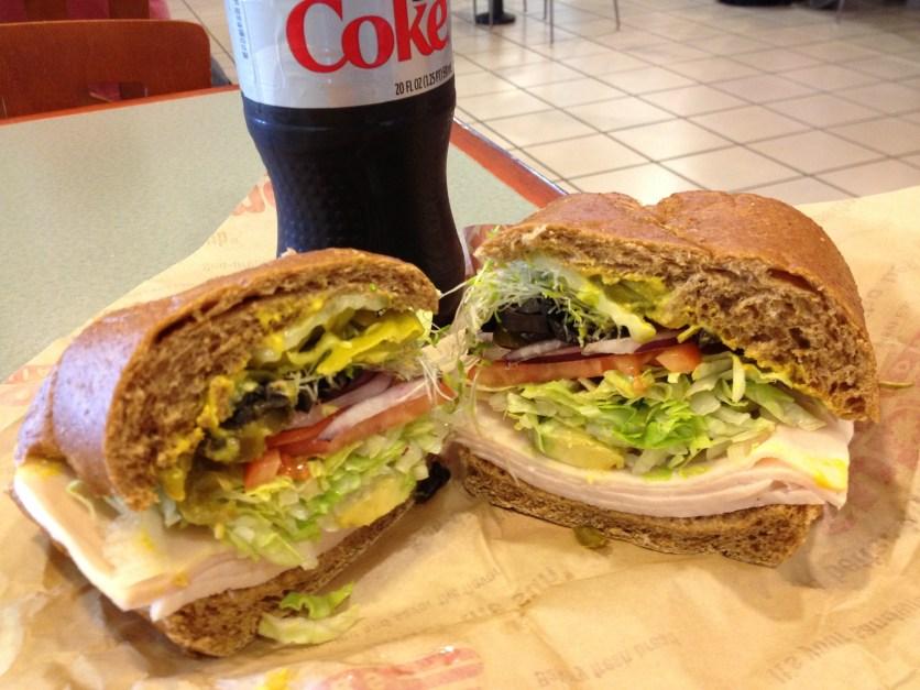 Avocado and Turkey Sandwich at Submarina California Subs