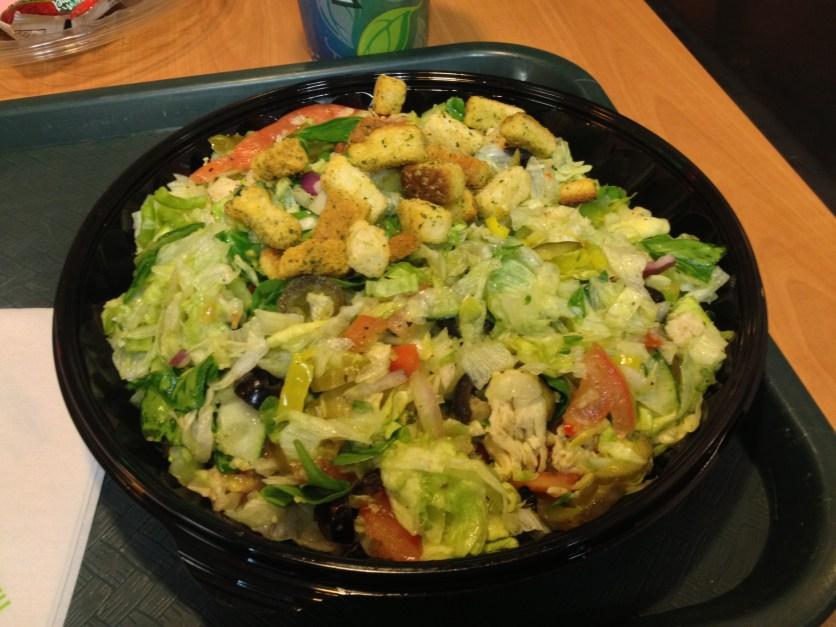 Chopped Salad at Subway