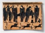 Funerary plaqueca. 520–510 B.C.; Archaic, black-figureGreek, AtticTerracottaRogers Fund, 1954 (54.11.5) photography by mma, Digital File DT200607.tif retouched by film and media (jnc) 12_2_11