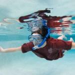 Katherine Walgamotte in a swimming pool
