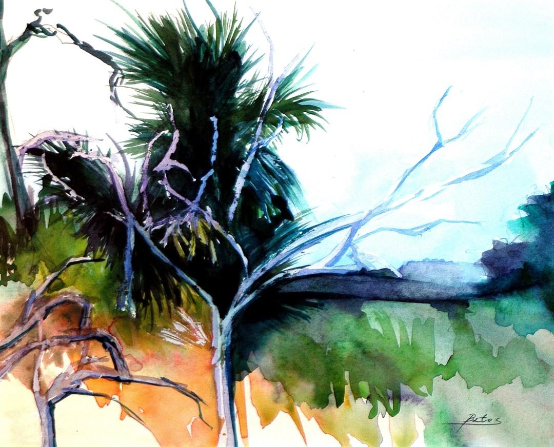 Philip Bates Artist ||Marsh at Eagle Neck|| W/C 10 1/2 X 13 $150 framed