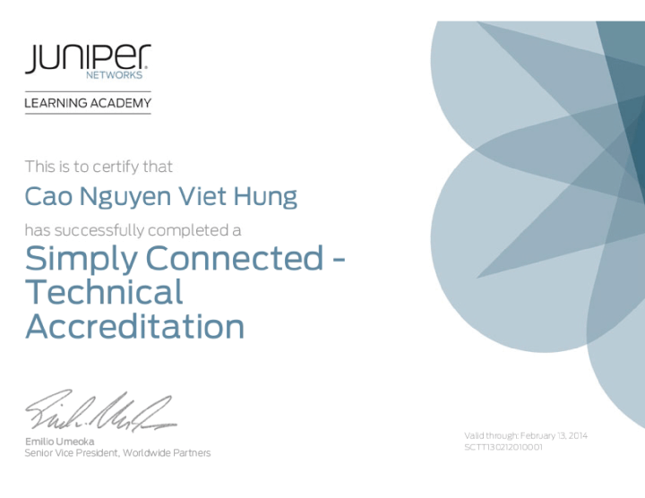 Juniper Networks Technical Accreditation – Simply Connected