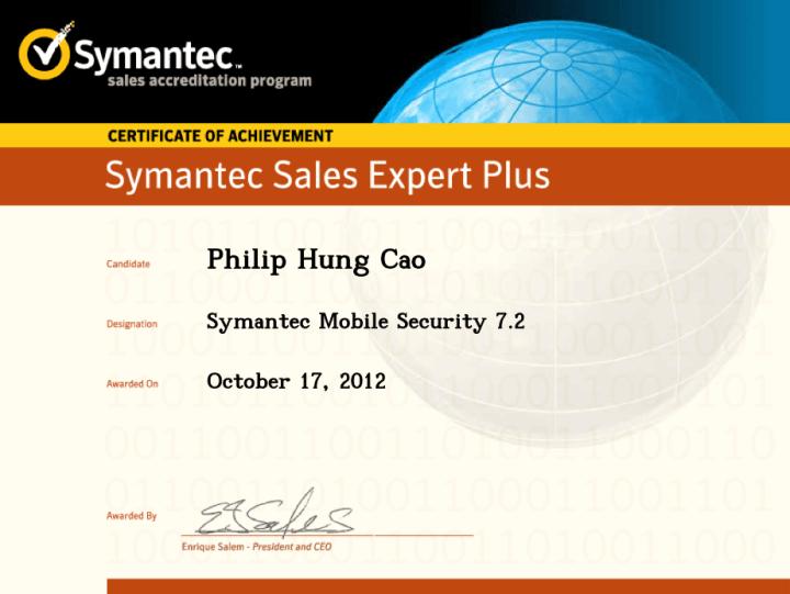 Symantec Sales Expert Plus (SSE+) – Symantec Mobile Security 7.2