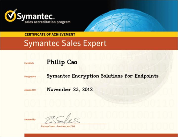 Symantec Sales Expert (SSE) – Symantec Encryption Solutions for Endpoints