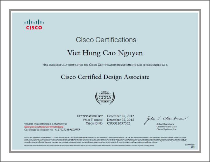 [2012] Philip Cao - Cisco Certified Design Associate (CCDA)