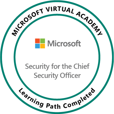Microsoft Virtual Academy: Security for the Chief Security Officer (CSO)