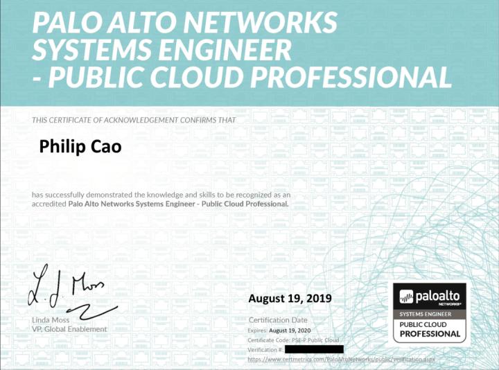 Palo Alto Networks System Engineer Professional – Public Cloud (PSE-P Public Cloud)