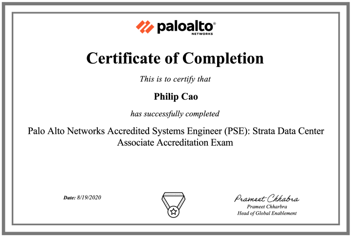 Palo Alto Networks Accredited Systems Engineer (PSE): Strata Data Center Associate Accreditation (PAN-OS 10.0 updated)