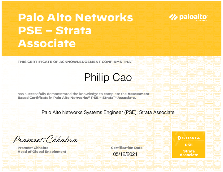 Palo Alto Networks Systems Engineer (PSE): Strata Associate (May 2021 Update)
