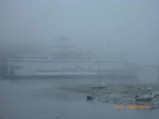 Brittany Ferry in the fog