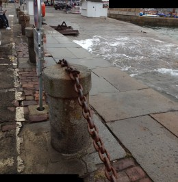High tide in the harbor