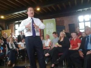 David Cameron takes questions in Birmingham