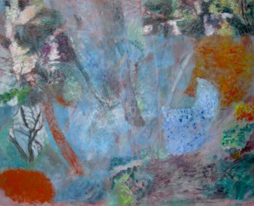 Stour Path, mixed media on paper
