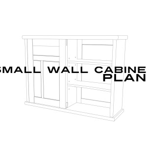 Sketchup drawing of small wall cabinet for plans
