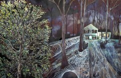 16.Philippa Jones, 'illuminated tree', pen, ink & watercolour, 'Coexist simultaneously' 2012