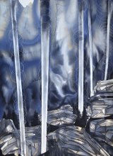 "Philippa JOnes, Aurora terra Watercolour, ink on Fabriano paper, 31.5"" × 23.25"", 2016"
