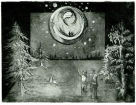 Illuminate, 6x8in,aquatint, 2010