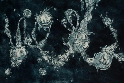 monism, aquatint, 12x18in, 2010