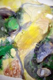 Philippa JOnes, Cartographic Sketch, pen, ink watercolour wash
