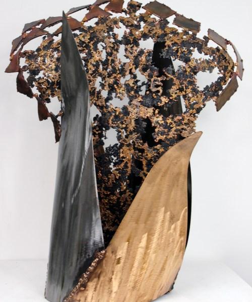 55 Kouros Asphalte - Sculpture Philippe Buil - Bronze et acier 1