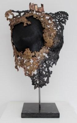16 philippe buil bronze acier corde buste feminin 1