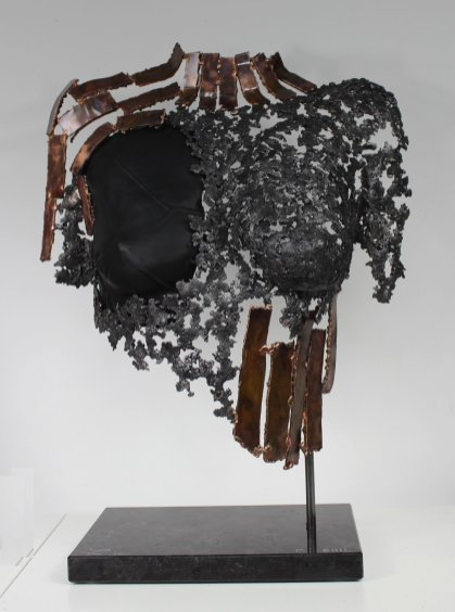 25 buste belisama bronze acier cuir noir athena 1