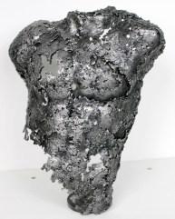 Sculpture de Philippe Buil - Pavarti Gloria en dentelle d'acier - Pièce unique - hauteur 30 cm