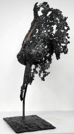 Sculpture de Philippe Buil en metal : dentelle d'acier et bronze Belisama Piece unique