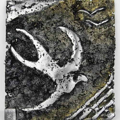 Tableau verset 17-59 - Tableau acier Dentelle Acier  21 x 24 x 1 cm Pièce Unique
