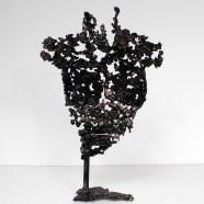 Sculpture de Philippe Buil en metal Bronze et Acier représentant deux muses de Massenet Piece unique Muse Gaia