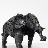 Sculpture de Philippe Buil en metal Dentelle d'acier représentant un elephant Piece unique