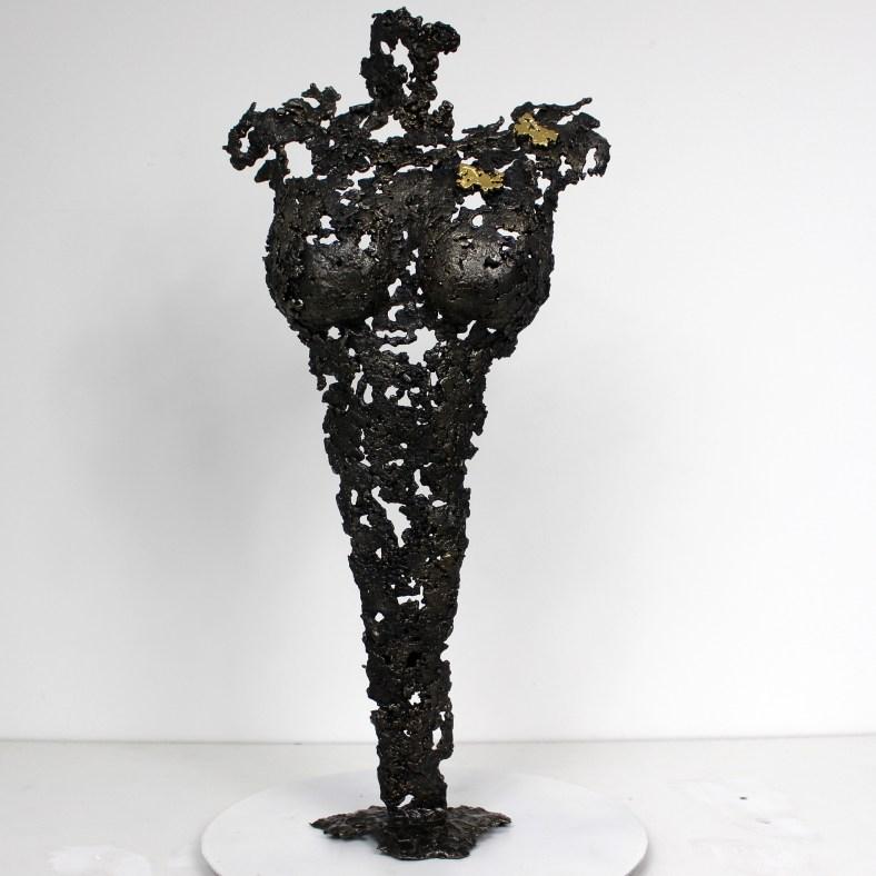 Pavarti Ofelia - Sculpture Philippe Buil - Corps de femme metal