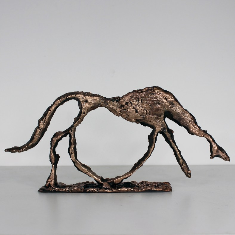 Hommage aux maitres Chien Giacometti Bronze - Sculpture Philippe