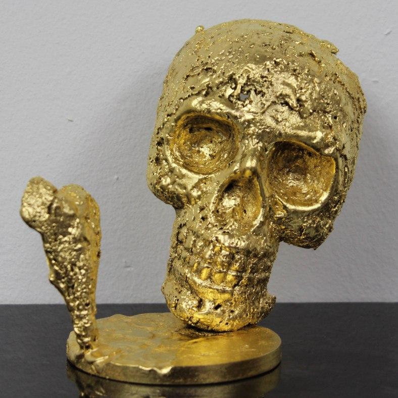 Un coeur de vanité - Sculpture Philippe Buil - coeur bronze sur
