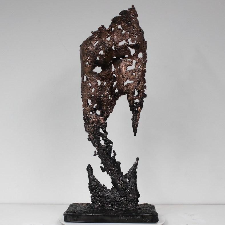 Sculpture de Philippe Buil en metal : dentelle acier bronze - Fessier Pavarti Poséïdon - Piece unique - Haut 51 cm Sculpture by Philippe Buil in metal : lace steel and bronze - Buttocks Unique Piece