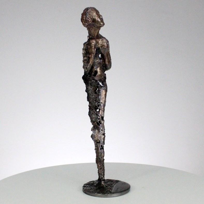 muse bronze acier dentelles metal sculpture philippe Buil bronze Museum metal
