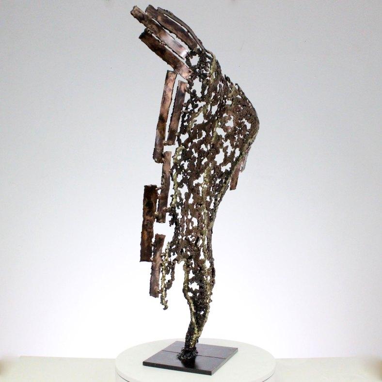 Kouros Survivant Sculpture dos homme métal Survivor Sculpture back man metal h 83 cm