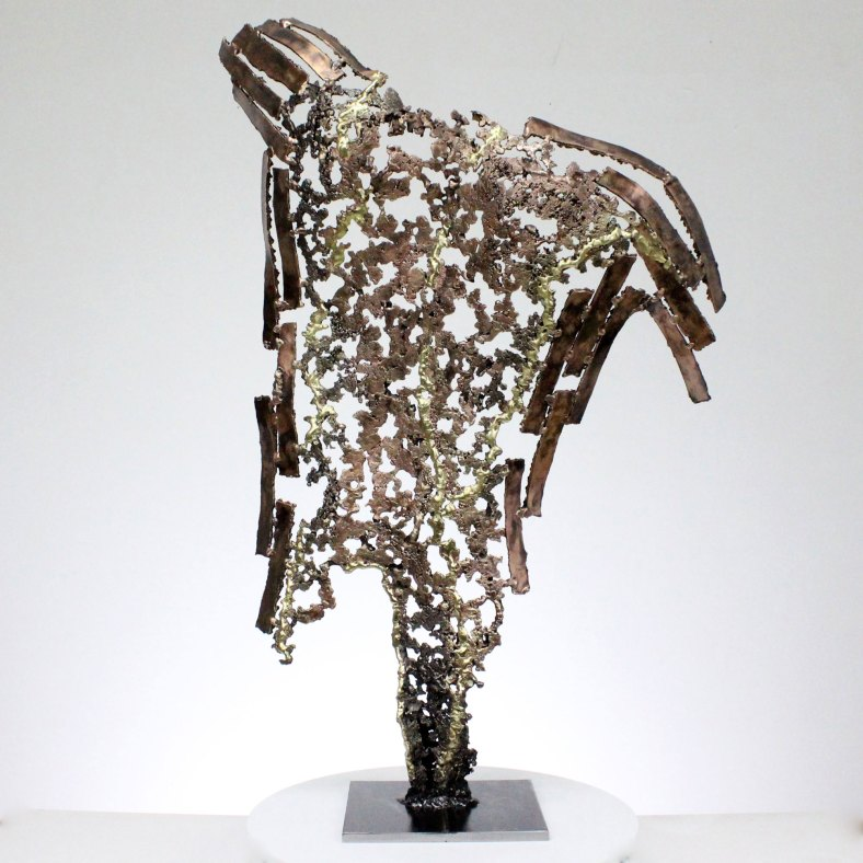 Kouros выживший скульптура спина человек металл Survivor Sculpture back man metal