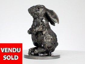 Lapin X - Sculpture animaliere métal - lapin acier - animal metal sculpture rabbit steel bronze - Buil