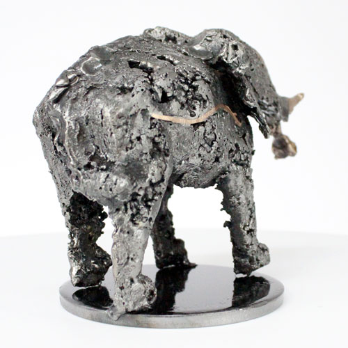 Buffon Elephant sculpture bronze acier Elephant en metal buffon - elephant sculpture bronze steel Elephant in metal philippe buil