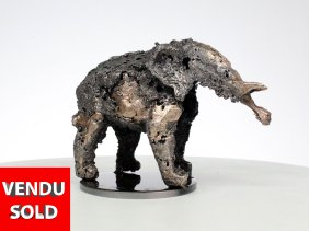 Buffon Elephant C sculpture bronze acier Elephant en metal buffon - elephant C sculpture bronze steel Elephant in metal philippe buil